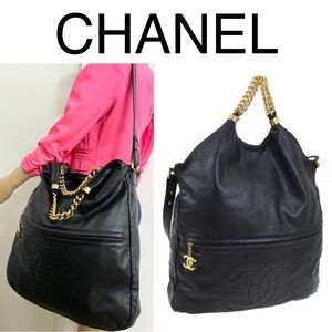 🌺HUGE🌺 Chanel hobo two way chain Bag